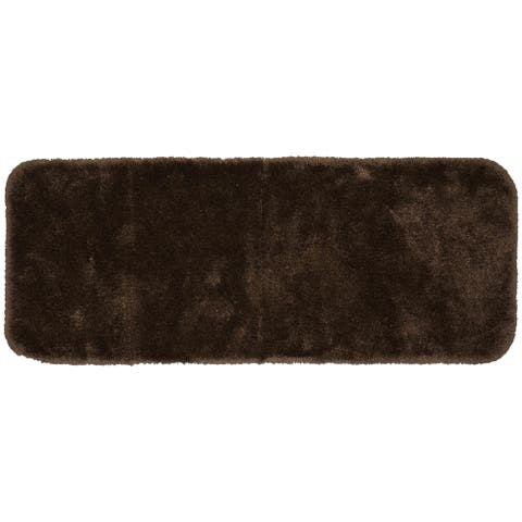 Finest Luxury Chocolate Ultra Plush Washable Bath Rug Runner
