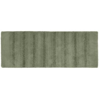 Essence Deep Fern Nylon Washable Bathroom Rug Runner