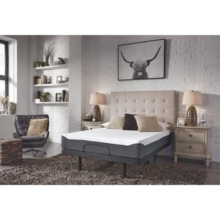 Ashley Furniture Signature Design - 10 Inch Chime Elite Full Mattress - Bed in a Box - White/Blue