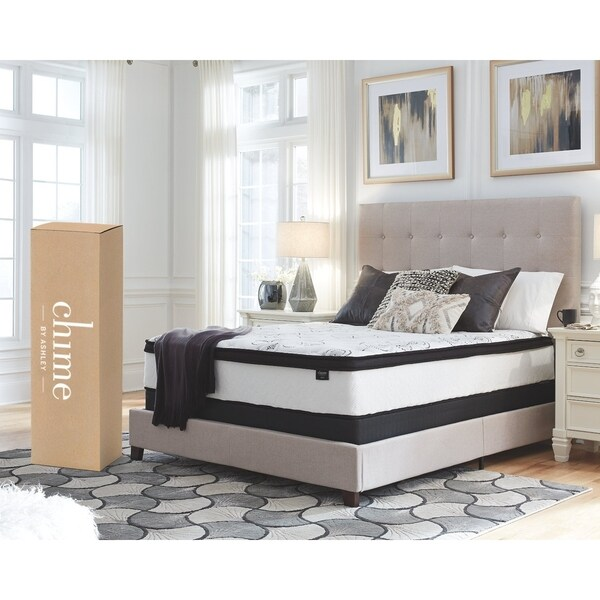 Shop Ashley Furniture Signature Chime 12 Inch Hybrid California King Mattress On Sale Free