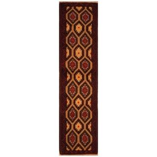 Handmade Khorasan Wool Rug (India) - 5' x 7'1