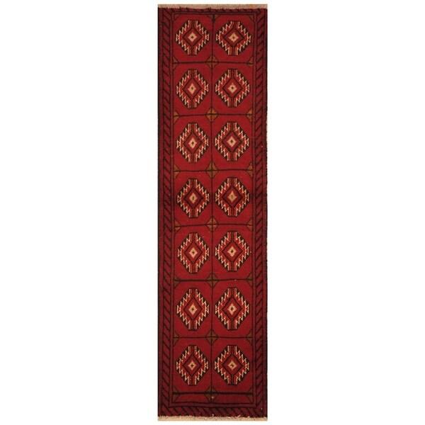 Handmade Khorasan Wool Rug (India) - 3' x 10'4