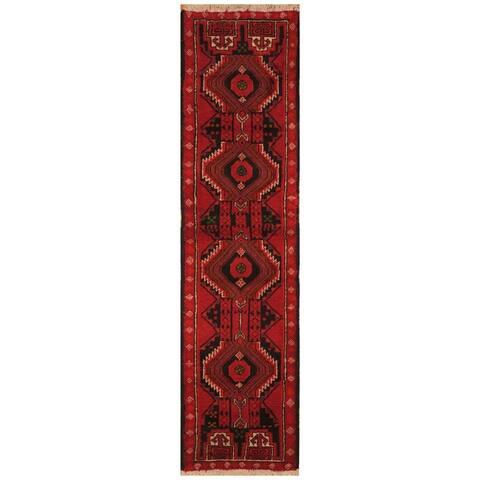 Handmade One-of-a-Kind Tribal Balouchi Wool Runner - 1'6 x 6'5