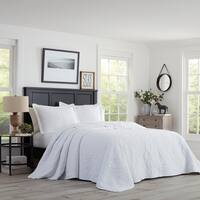 Stone Cottage Burch Embroidered White Bedspread Set