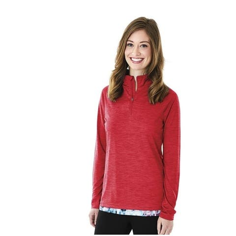 Charles River Moisture Wicking Athletic Pullover, Red