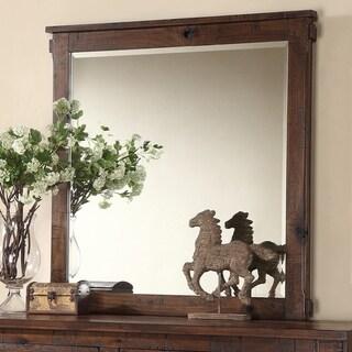 Restoration Collection Rustic Walnut Dresser Mirror - rustic walnut