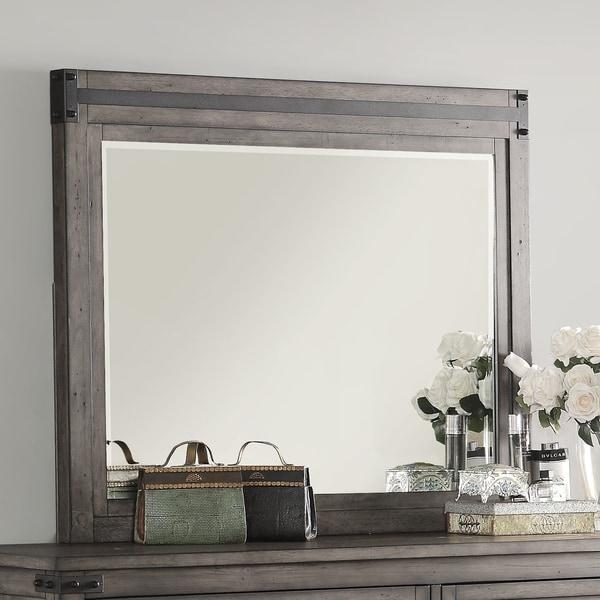 Storehouse Collection Smoked Grey Dresser Mirror - smoked grey