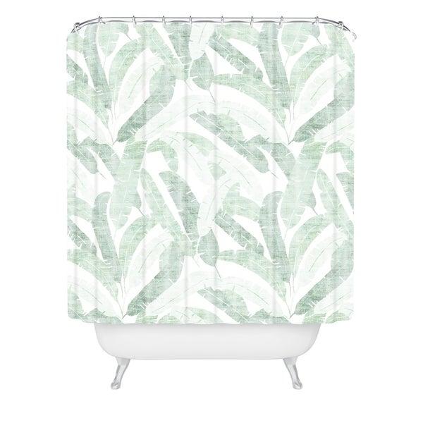 Shop Deny Designs Banana Leaf Shower Curtain 69x72