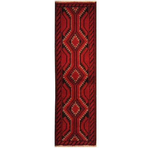 Handmade Herat Oriental Persian Hand-knotted Tribal Balouchi Wool Rug (1'8 x 5'10) - 1'8 x 5'10