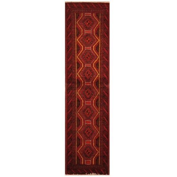 Handmade Balouchi Wool Rug (Iran) - 1'8 x 6'3