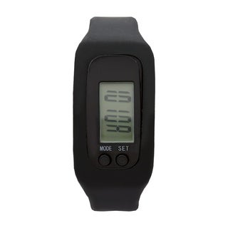 Covet Women's 'Lily' Black Silicone Strap Sports Watch