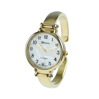 Covet Women's 'Ella' Gold Tone Cuff Quartz Watch