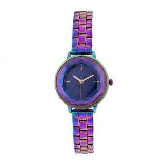 Covet Women's 'Lola' Cut Crystal Multi Bracelet Quartz Watch