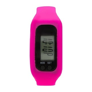 Covet Women's 'Lily' Hot Pink Silicone Strap Sports Watch