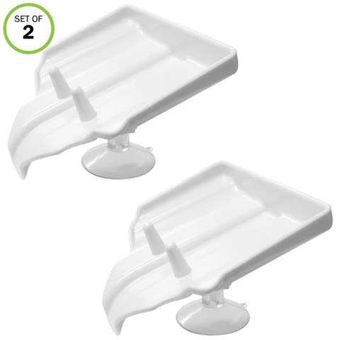 Evelots Soap Holder W/Drain-Suction Cups-Shower-Sink-Soap Saver-Stay Dry-Set/2 - Set of 2