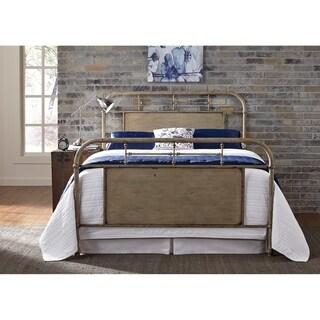 Carbon Loft Cauthen Vintage Cream King Metal Bed
