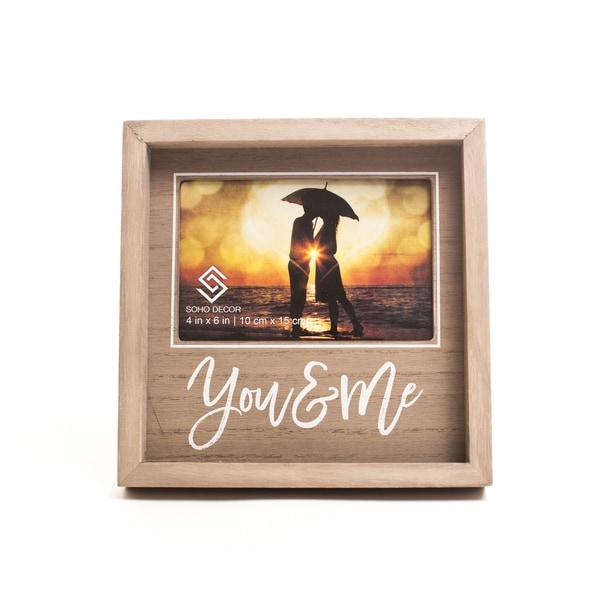 4X6 You & Me Square Photo Frame