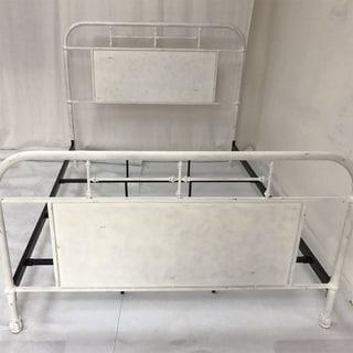 Carbon Loft Kuiper Antique White King Metal Bed