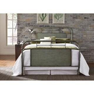 Vintage Series Green King Metal Bed