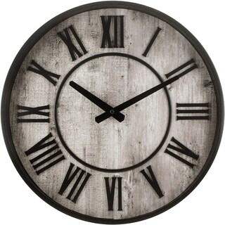 """33975- Westclox 15"""" Rustic Roman Numeral Wall Clock"""
