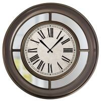 """33057- Westclox 22"""" Wall Clock With Mirror- Traditional Finish"""