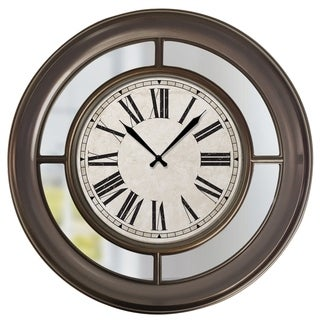 "33057- Westclox 22"" Wall Clock With Mirror- Traditional Finish"