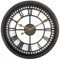 "33908- 20"" Round Roman Numeral Wall Clock"