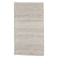 Capel Rugs Braided Vivid Steel Grey Nylon Area Rug - 7' x 9' runner