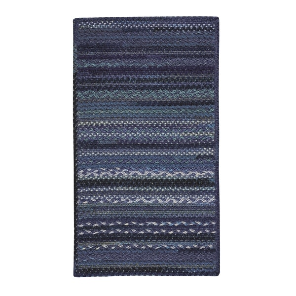 """Capel Rugs Harborview Dark Blue Braided Cross Sewn Rectangle Area Rug - 9' 6"""" x 9' 6"""""""