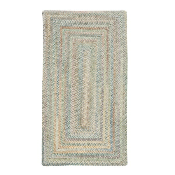 """Capel Rugs Braided Alliance Moonstone Cotton Area Rug - 7' 6"""" x 7' 6"""" runner"""
