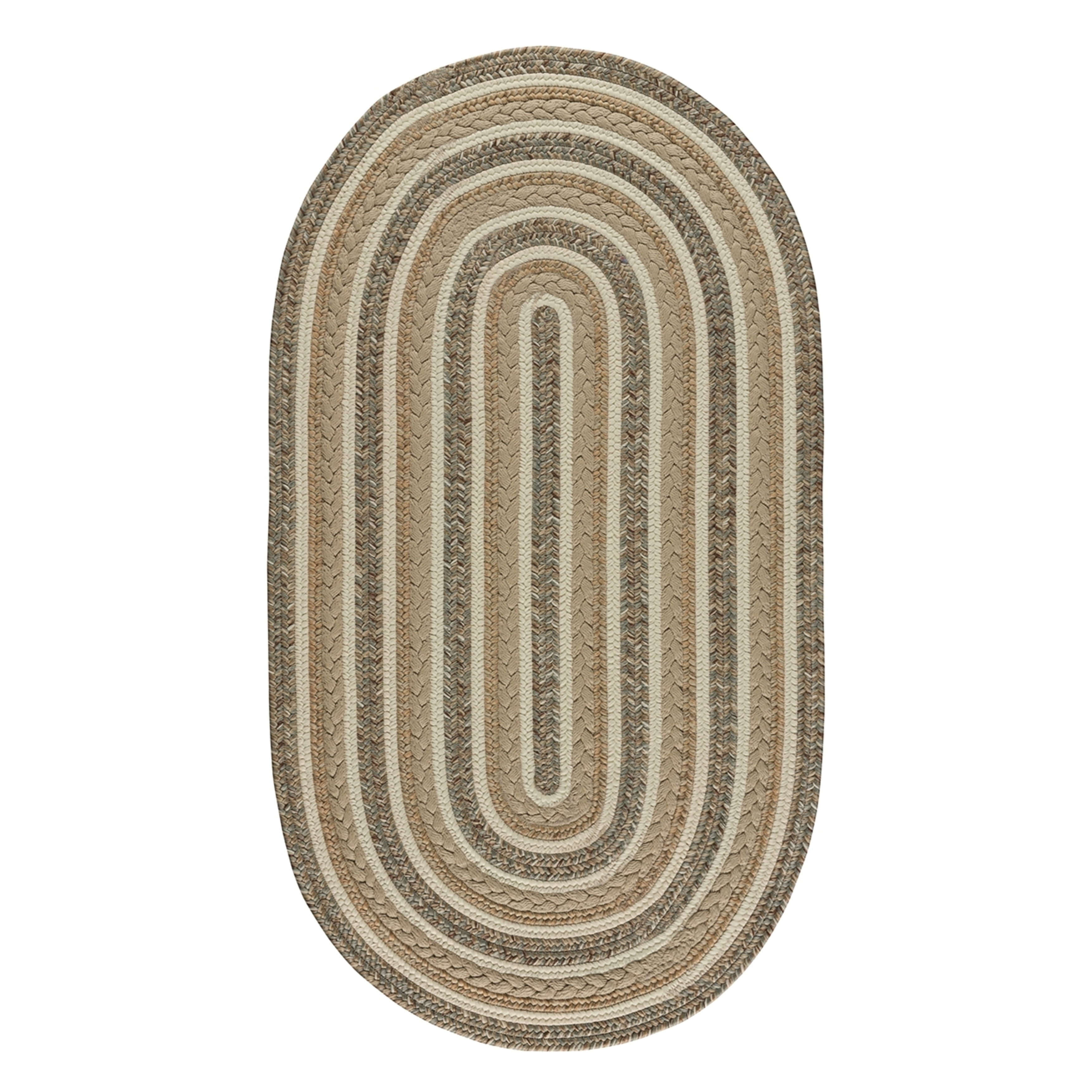 Image of: Shop Capel Rugs Braided Platform Beige Area Rug 24 X 36 Oval Overstock 25720740