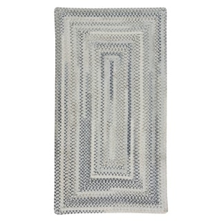 """Capel Rugs Alliance Dove Gray Braided Concentric Rectangle Area Rug - 9' 6"""" x 9' 6"""""""