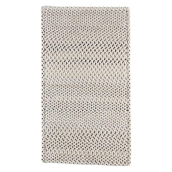 "Capel Rugs Braided Vivid Steel Grey Nylon Area Rug - 5' 6"" x 5' 6"" runner"