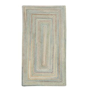 "Capel Rugs Braided Alliance Moonstone Cotton Area Rug - 5' 6"" x 5' 6"" runner"