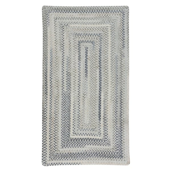 """Capel Rugs Alliance Dove Gray Braided Concentric Rectangle Area Rug - 7' 6"""" x 7' 6"""""""
