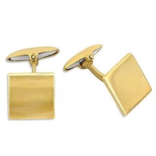 Miadora 18k Yellow Gold Square Matte Cufflinks
