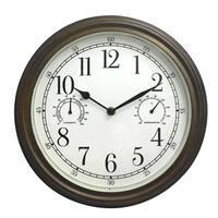 """33027- Westclox 12"""" Indoor/Outdoor Wall Clock"""