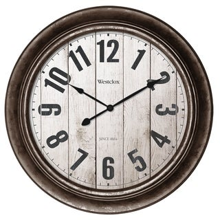 """32931AW- Westclox 15.5"""" Round Wall Clock with Antique Bronze Finish"""
