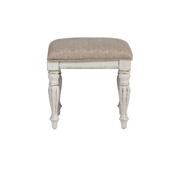 Magnolia Manor Antique White Vanity Stool