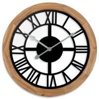 "38004- Westclox 15"" See Through Wood Wall Clock"