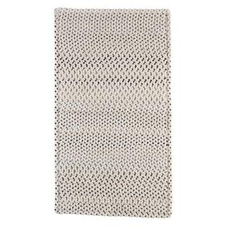 "Capel Rugs Braided Vivid Steel Grey Nylon Area Rug - 7' 6"" x 7' 6"" runner"