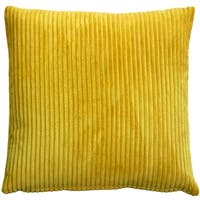 Pillow Décor - Wide Wale Corduroy 22-inch Yellow Throw Pillow