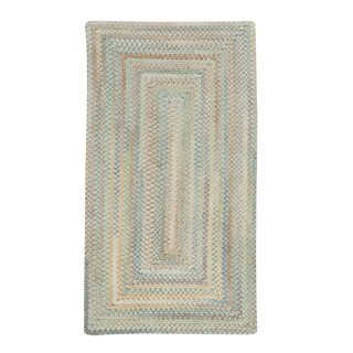 """Capel Rugs Braided Alliance Moonstone Cotton Area Rug - 36"""" x 36"""" runner"""