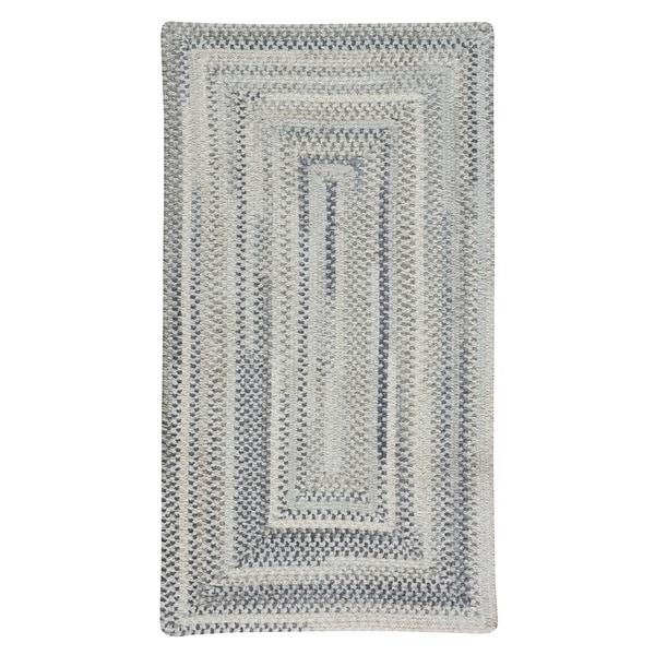 Capel Rugs Braided Alliance Dove Gray Cotton Area Rug - 3' x 5'