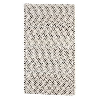 "Capel Rugs Braided Vivid Steel Grey Nylon Area Rug - 27"" x 9' runner"