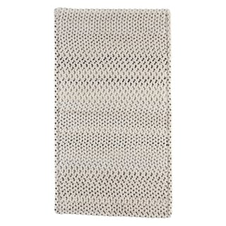 "Capel Rugs Braided Vivid Steel Grey Nylon Area Rug - 27"" x 9' runner"
