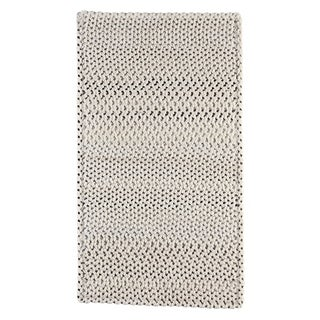 "Capel Rugs Braided Vivid Steel Grey Nylon Area Rug - 24"" x 8' runner"