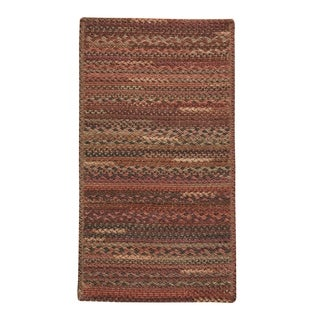 "Capel Rugs Braided Harborview Red Wool Area Rug - 8' 6"" x 8' 6"" runner"