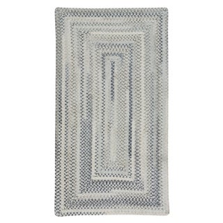 Capel Rugs Braided Alliance Dove Gray Cotton Area Rug - 8' x 11' runner