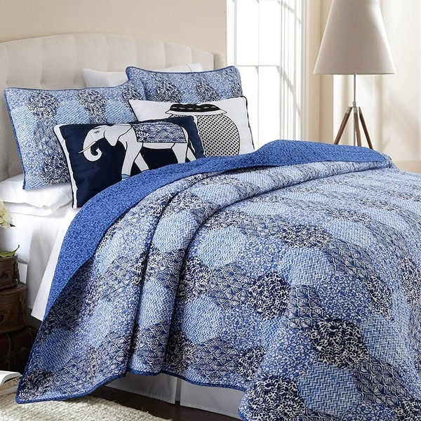 Cozy Line Orofino 3-piece Cotton Reversible Quilt Set